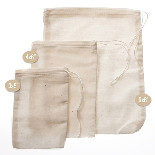 "Musline Herb Bag 4x6"" - 5 Count"