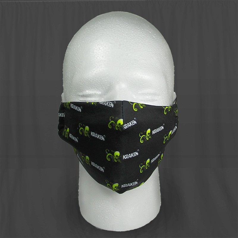 Adjustable Kraken Cotton Face Mask v2! Now with TWO filters!