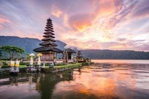 Pura Ulun Danu Bratan in Bali, Indonesia