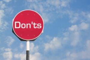 don'ts stop sign