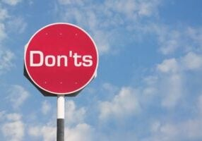 don'ts stop sign